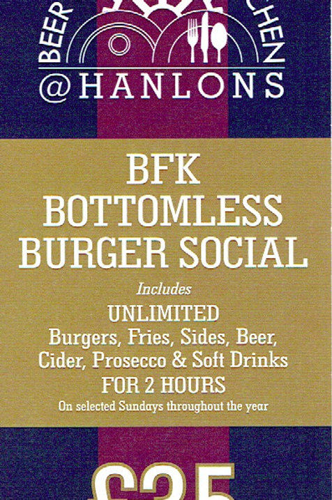 BFK Bottomless Burger Social Gift Voucher