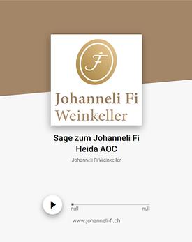 Johanneli Fi Weinkeller, Walliser Sage zum Johanneli Fi Heida, Schweizer Weintourismuspreis