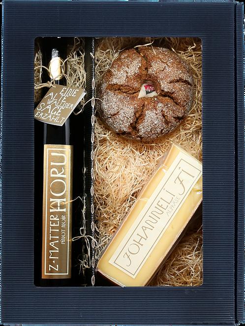 Walliser Genuss-Geschenkbox z'Matterhoru Pinot Noir 75cl