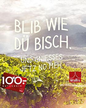 Kanton Wallis, Wertgutschein, CHF 100 Aktion, Wein kaufen, Johanneli Fi Weinkeller, Visp, Ferienaktion