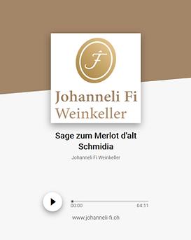 Johanneli Fi Weinkeller, Walliser Sage zum Merlot d'alt Schmidia, Schweizer Weintourismuspreis
