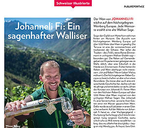 Johanneli Fi Wine Cellar, Swiss Wine Tourism Prize, Visperterminen, Highest Vineyard in Europe, Heida, Schweizer Illustrierte
