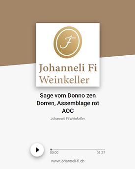 Johanneli Fi Weinkeller, Walliser Sage zum Donno zen Dorren, Assemblage rot, Schweizer Weintourismuspreis