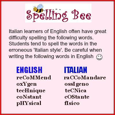 Blog studiare inglese - Spelling tips for ESL students