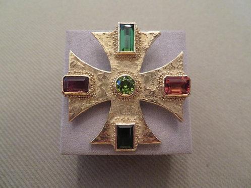 Ed Weiner Maltese cross pin/pendant