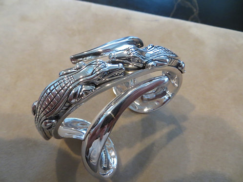 Alligator Cuff Bracelet - SOLD