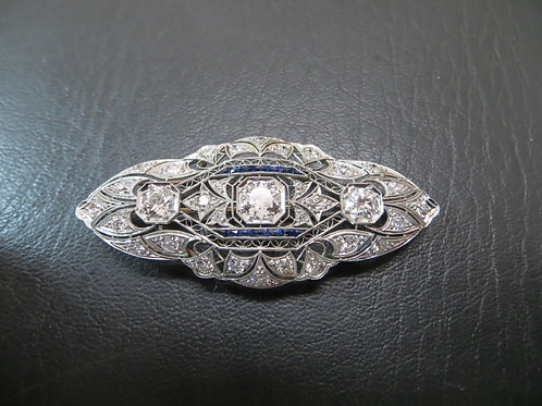 1920s Platinum and Diamond Brooch