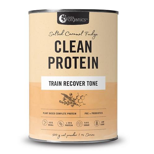 Nutra Organics Salted Caramel Fudge Clean Protein