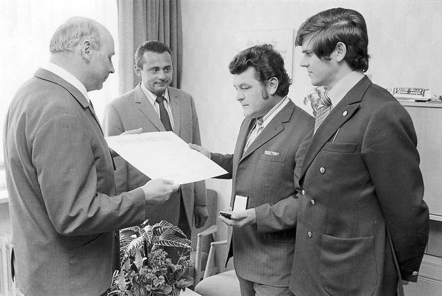 Mitarbeiterehrung 1974