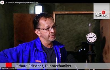 Stadt Regensburg, auf dem Rathausturm mit dem Uhrendoktor