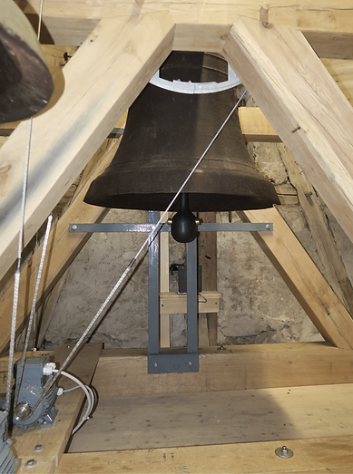Installed fully electronic bell ringing motor