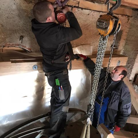 Arbeiten in der Glockenstube