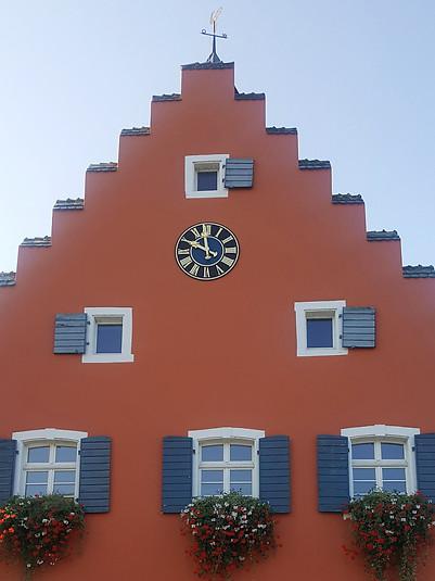 Town hall clock of the municipality Gottenau
