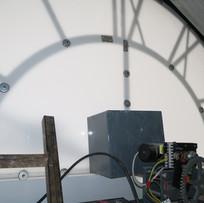 Fassadenmotorzeigerwerk montiert