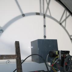 Installed facade motor hand movement