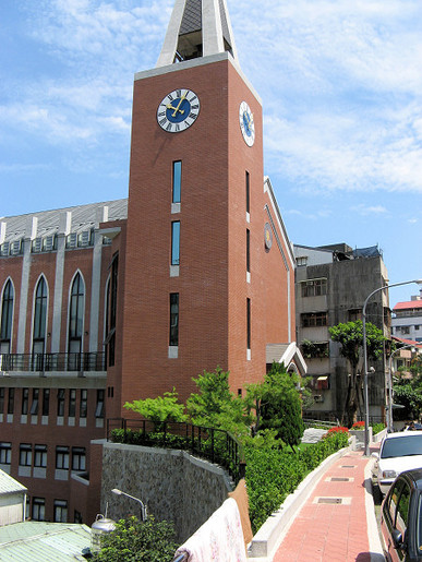 Tower clock and belfry for the Hsin-Tien church in Taiwan