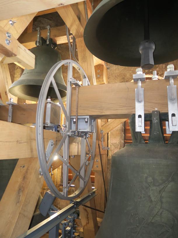 Sanierte Glocken- und Läuteanlage in der Kirche St. Georg in Augsburg-Haunstetten