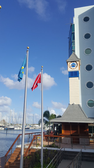 Tower clock for the Marina in St. Lucia