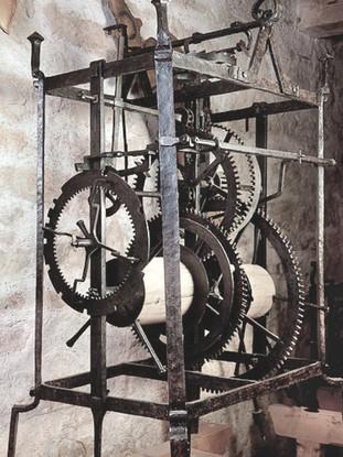 Wrought-iron restored tower clock
