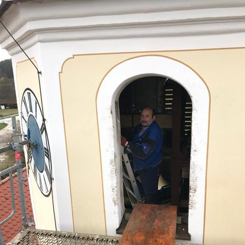 Eingang über das Schallfenster in die Glockenstube
