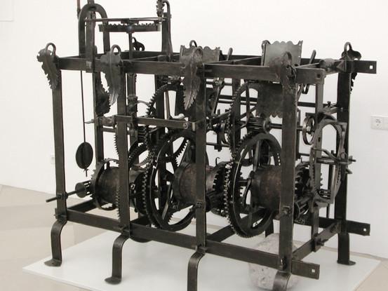 Wrought-iron tower clock