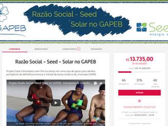 GAPEB participa de projeto para financiamento coletivo de energia solar