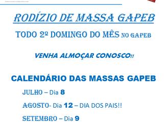 Rodízio de massas do GAPEB