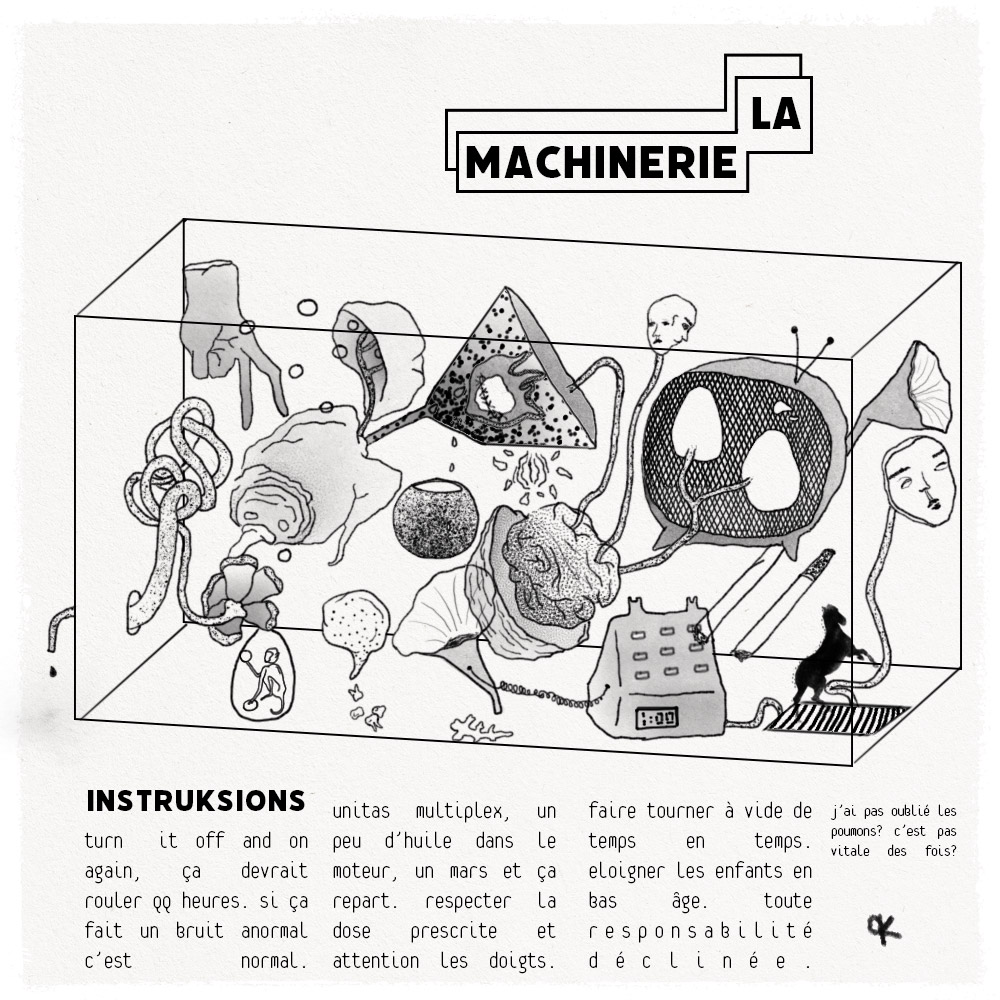 La machinerie (autoportrait), nov 2020
