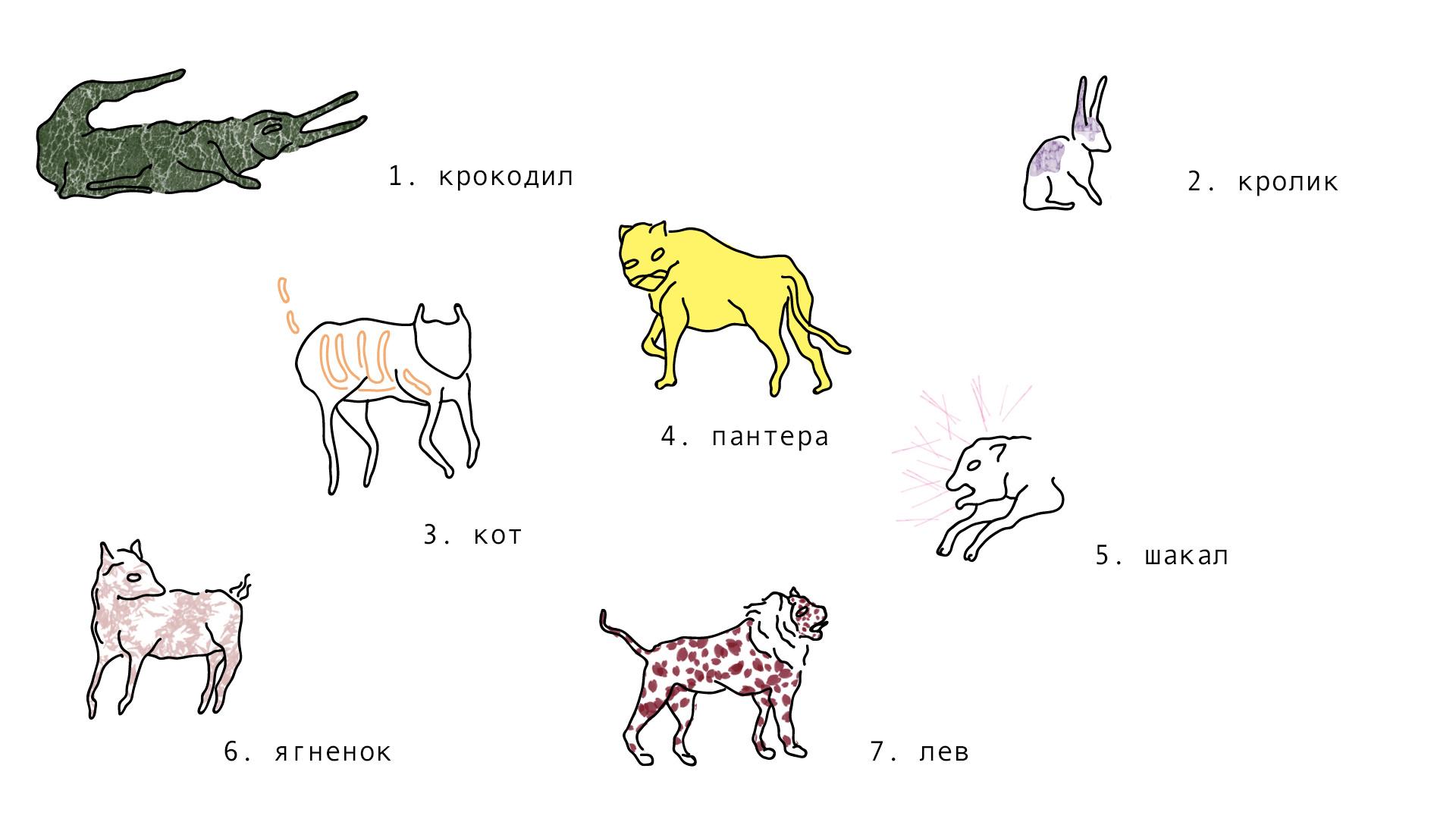 bestiaire (животные) - juin 2019