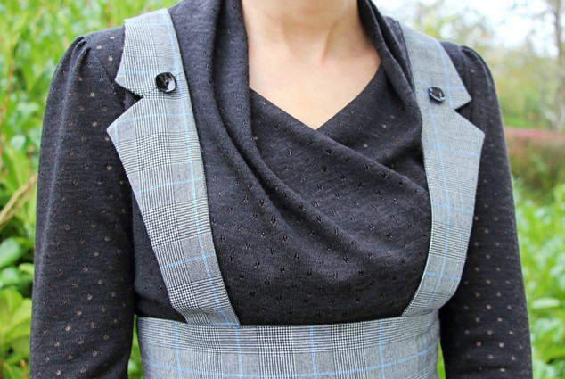 Détail Devant Look Pull Origami-Ceinture