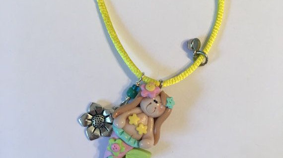 Clay Mermaid Necklace
