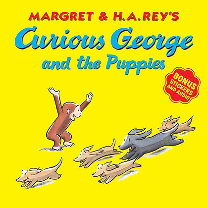 Curious George and the Puppies (with bonus stickers and audio)