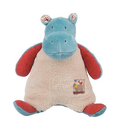 Moulin Roty Les Papoums Plush Hippo Rattle
