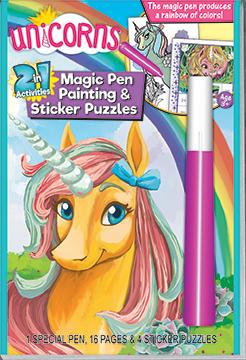 2in1: Unicorns Magic Painting & Sticker Puzzles