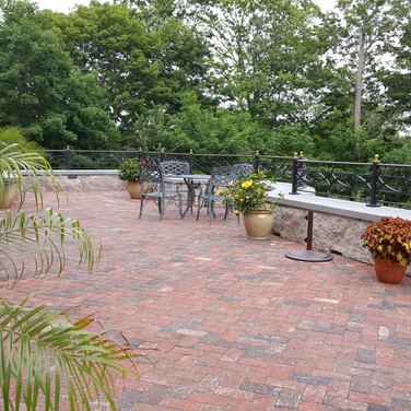 Herringbone Clay Brick Patio In Branford CT