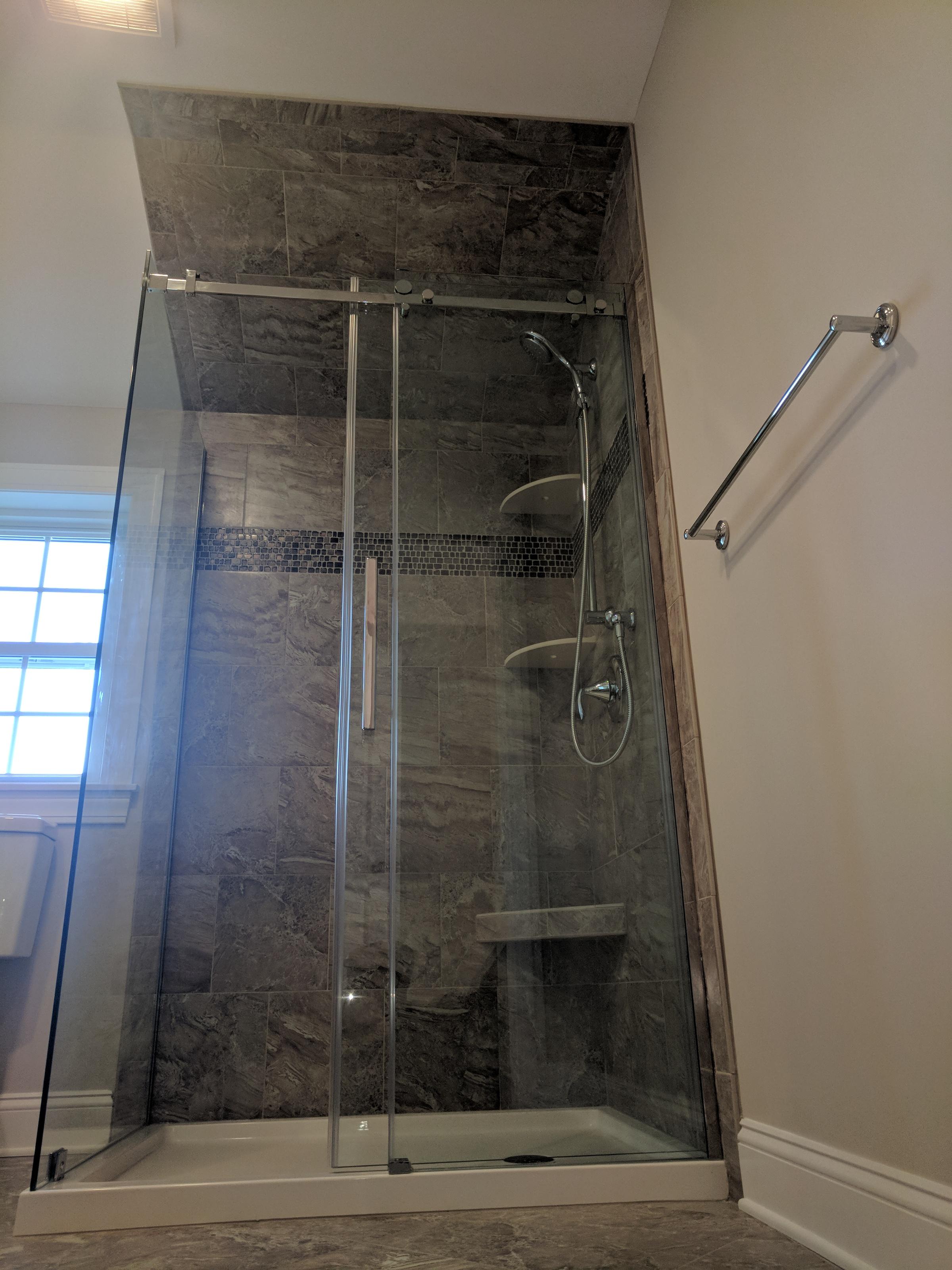 New Full Bath In Upstairs Additiion