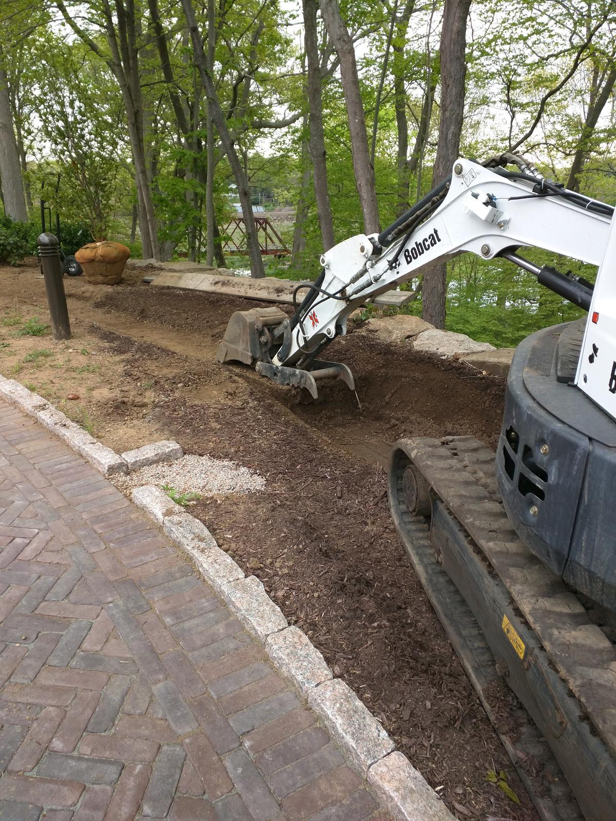 site work excavation ct mini excavator stonebridge craftsmen llc