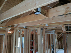 Expanded ceiling with recessed light