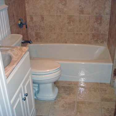 Wainscoting bathrom with MarbleTile