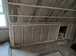 Walls and ceiling insulated
