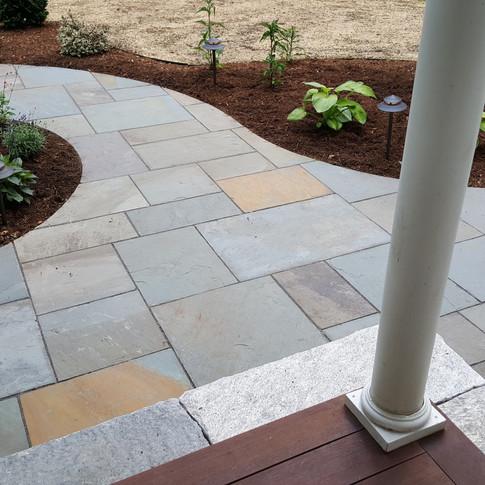 Natural Cleft Bluestone Walkway