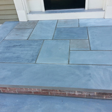 Bluestone and Brick Steps