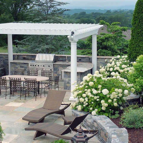 Terrace and outdoor kitchen area