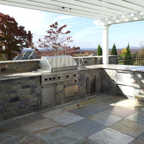 Stone kitchen outdoors