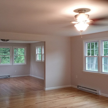 Sunroom converted to year round living