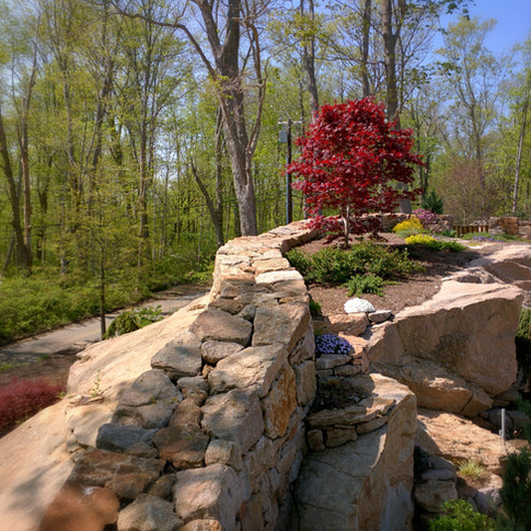 Curving Dry Laid Stone