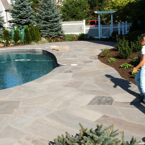 Natural Quartz Pool Surround