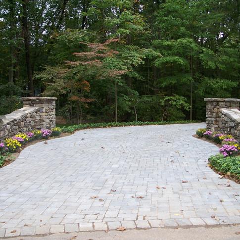 Charming Driveway Entrance