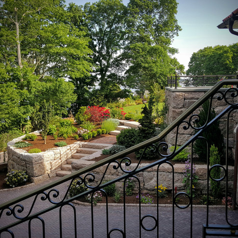 Driveway and Terrace View from Above