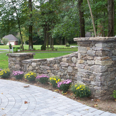 Entrance walls to residence